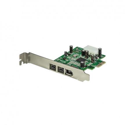 STARTECH Carte PCI-E 1x vers 2 ports FireWire 800 + 1 FireWire 400