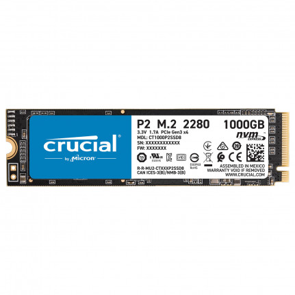 CRUCIAL P2 M.2 PCIe NVMe 1 To