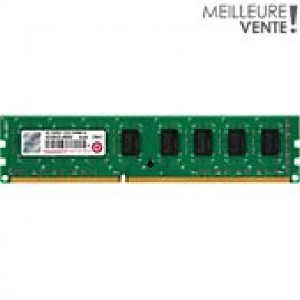TRANSCEND DDR3 4Go DIMM 240b 1333  DDR3 4 Go DIMM 240 broches 1333 MHz / PC310600 CL9 1.5 V memoire sans tampon non ECC