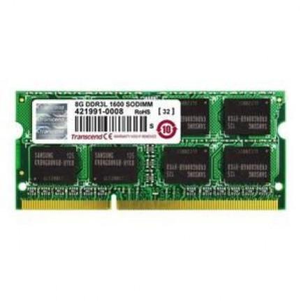 TRANSCEND DDR3L 8Go SO DIMM 204b 1600MHz  DDR3L 8 Go SO DIMM 204 broches 1600 MHz / PC3L12800 CL11 1.35 V memoire sans tampon NON ECC