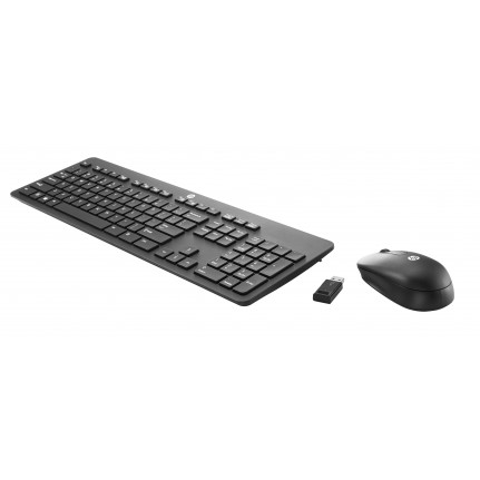 HP HP Slim Wireless KB and Mouse (DE) HP Slim Wireless KB and Mouse Allemand (DE)