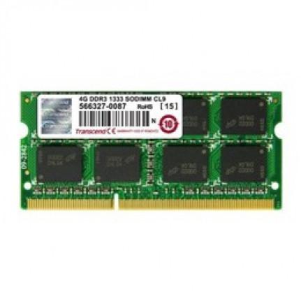 TRANSCEND Transcend JM1333KSN-4G - Mémoire 4 Go - SO DIMM 204 broches - DDR3 - 1333 MHz / PC3-10600 - CL9 - 1.5 V