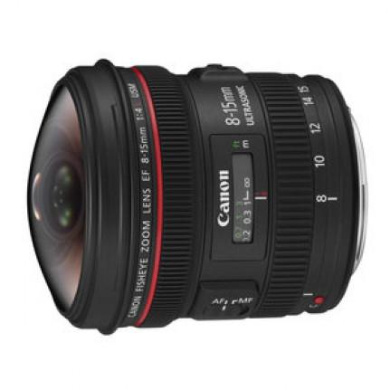 Objectif Canon EF 8-15mm f/4L Fisheye USM Zoom grand-angle