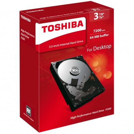 "Disque dur Toshiba P300 HDWD130EZSTA 3To 3.5"" 7200 RPM 64 Mo Serial ATA III 6 Gb/s (version boîte)"
