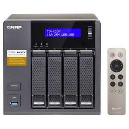 Serveur NAS QNAP TS-453A-8G 4 baies avec 8 Go de RAM (sans disque dur)
