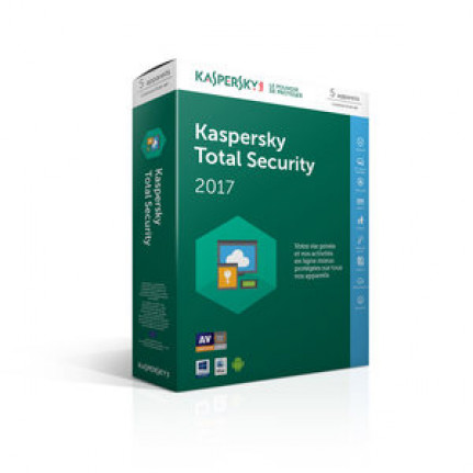 KASPERSKY Total Security 2017 - Licence 5 postes 1 an