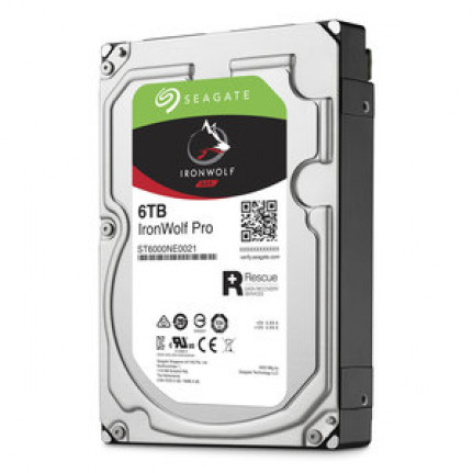 "Disque dur 3.5"" Seagate IronWolf Pro 6 To (ST6000NE0021) - 6 To 7200 RPM 256 Mo Serial ATA 6 Gb/s pour NAS"