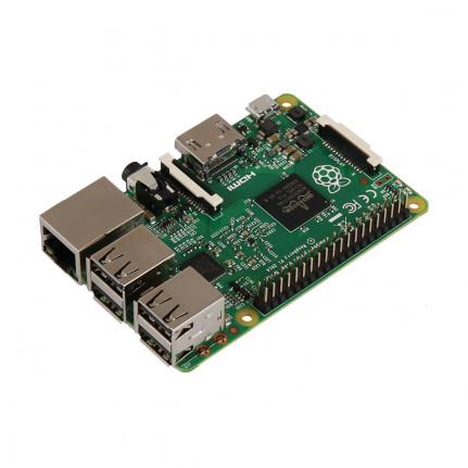 Raspberry Pi 2 Model B Carte mère avec processeur Broadcom BCM2836 Quad-Core - RAM 1 Go - RJ45 - HDMI - 4x USB 2.0