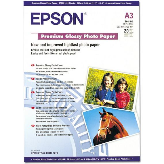 EPSON C13S041315 - Papier photo premium A3 (20 feuilles)