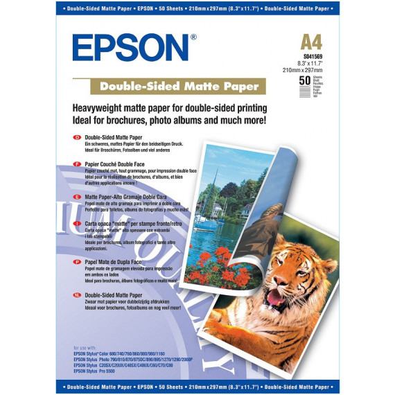 EPSON C13S041569 - Papier couché qualité photo double face A4 (50 feuilles)