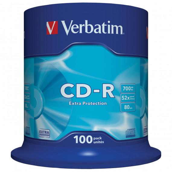 VERBATIM CD-R 700 Mo certifié 52x (pack de 100, spindle)