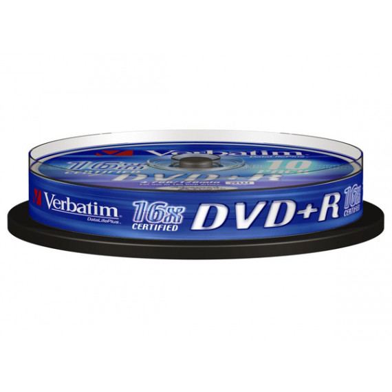 VERBATIM DVD+R 4.7 Go certifié 16x (pack de 10, spindle)