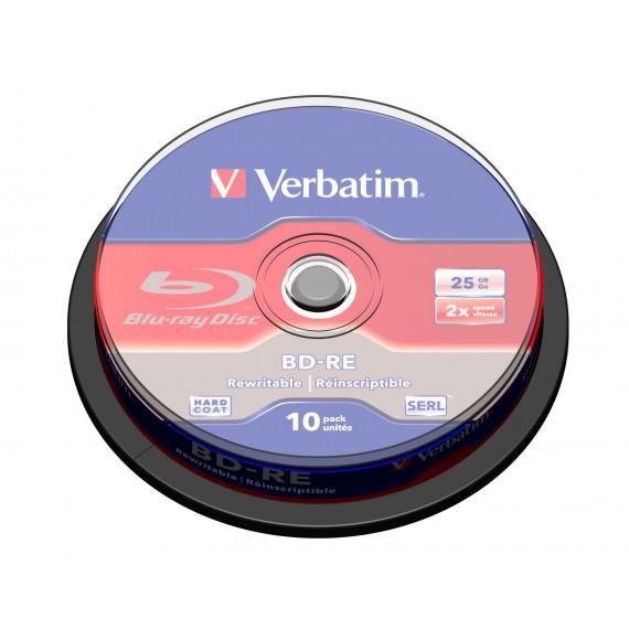 VERBATIM BD-RE 25 Go certifié 2x (pack de 10, spindle)