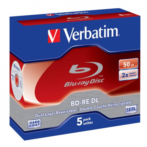 VERBATIM BD-RE DL 50 GO 2X (PAR 5, BOITE)