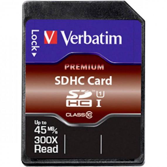 Carte Mémoire Verbatim SDHC 8GB Class 10