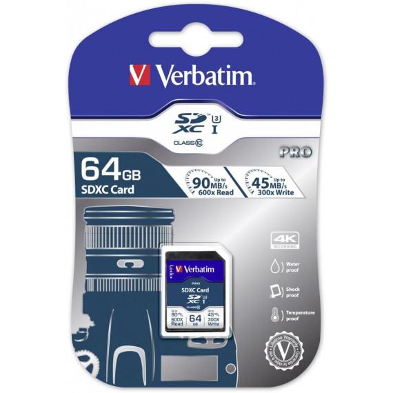 VERBATIM Pro 64 GB SDXC