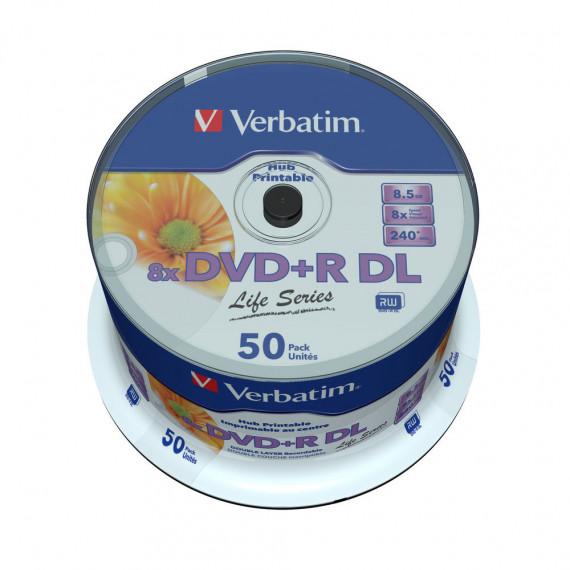 VERBATIM DVD+R DL 8.5 Go 8x 240 min (par 50, spindle)