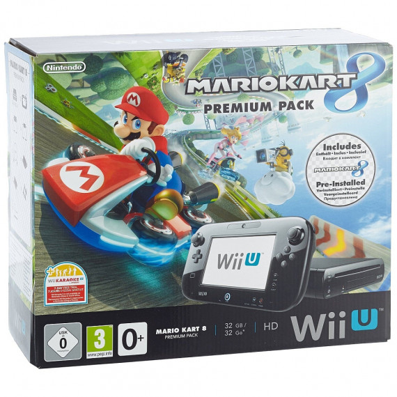 Nintendo Nintendo Wii U 32 Go Premium Pack + Mario Kart 8 - Console de jeux-vidéo avec mémoire interne 32 Go + jeu