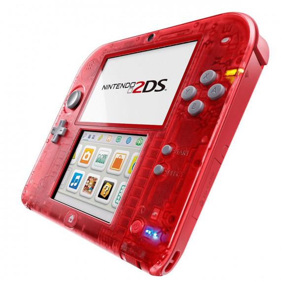 Nintendo Nintendo 2DS (rouge transparent) - Console de jeux-vidéo portable tactile à deux écrans
