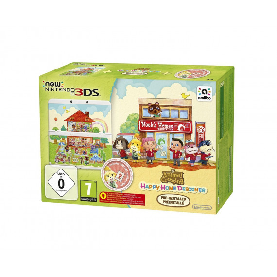 Nintendo Nintendo New 3DS (blanche) + Animal Crossing : Happy Home Designer - Console de jeux-vidéo portable tactile 3D à deux écrans + Jeu Animal Crossing : Happy Home Designer préinstallé (Pré-commande - Sortie le 2 Octobre 2015)