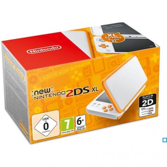 Nintendo Nintendo New 2DS XL (Blanc/Orange) - Console de jeux-vidéo portable tactile à deux écrans larges (Pré-commande - Sortie le 28 Juillet 2017)