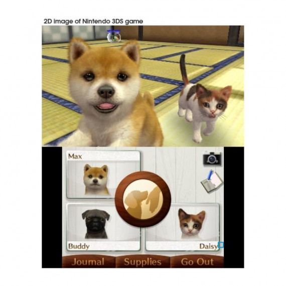 NINTENDO NINTENDOGS CATS GOLDEN 3DS
