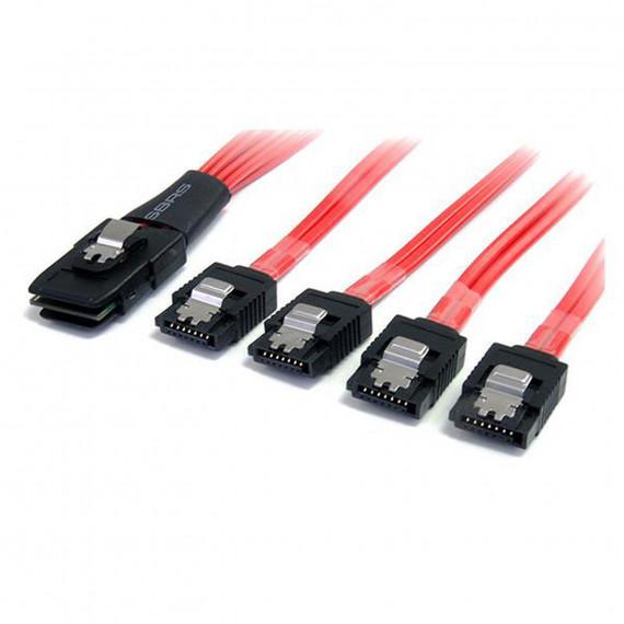 STARTECH Câble miniSAS (SFF-8087) vers 4x SATA (7 broches) à verrouillage - 50 cm