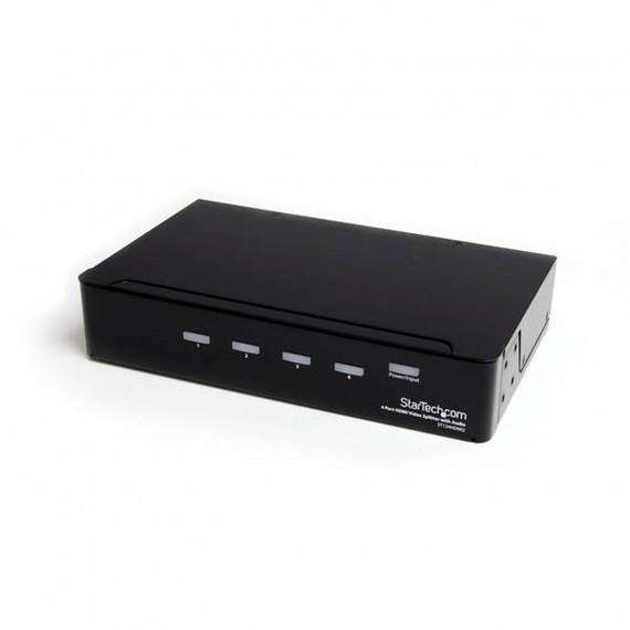 STARTECH Répartiteur vidéo et amplificateur de signal HDMI haute vitesse à 4 ports avec audio