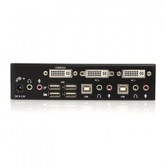 STARTECH Commutateur KVM 2 Ports DVI, USB et Audio