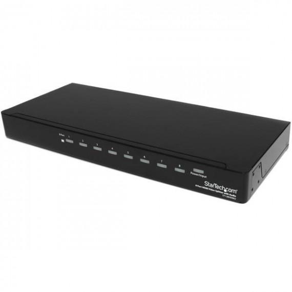 STARTECH Répartiteur vidéo et amplificateur de signal HDMI haute vitesse à 8 ports avec audio
