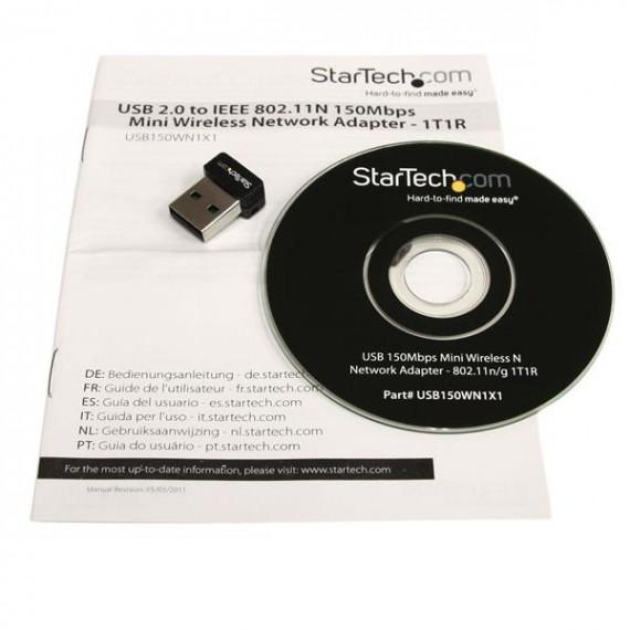 STARTECH StarTech.com Mini adaptateur réseau sans fil N USB 150 Mb/s