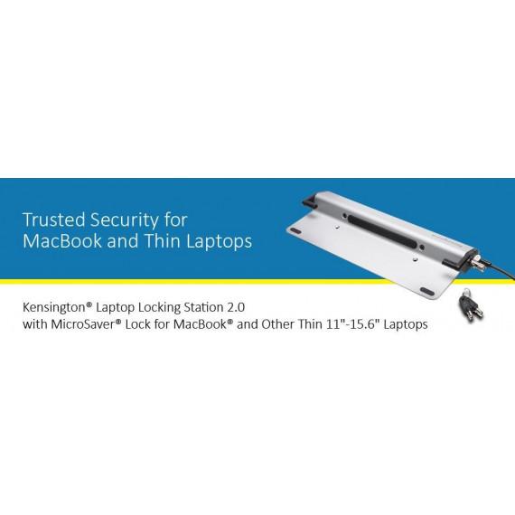 KENSINGTON Kensington Laptop Locking Station 2.0 + MicroSaver - Station de verrouillage pour ordinateur portable avec câble antivol