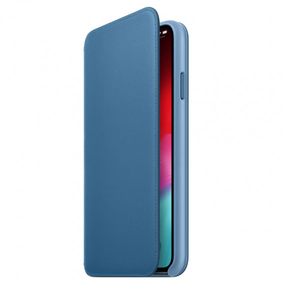 Apple Étui Folio en cuir Bleu iPhone Xs Max