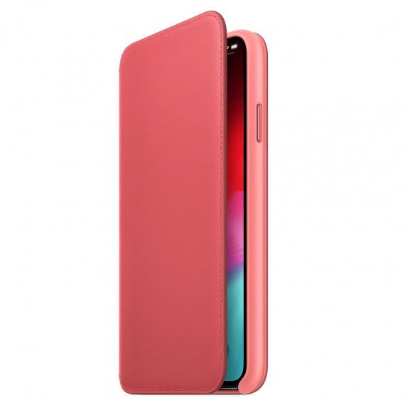 Apple Étui Folio en cuir Rose Pivoine iPhone Xs Max