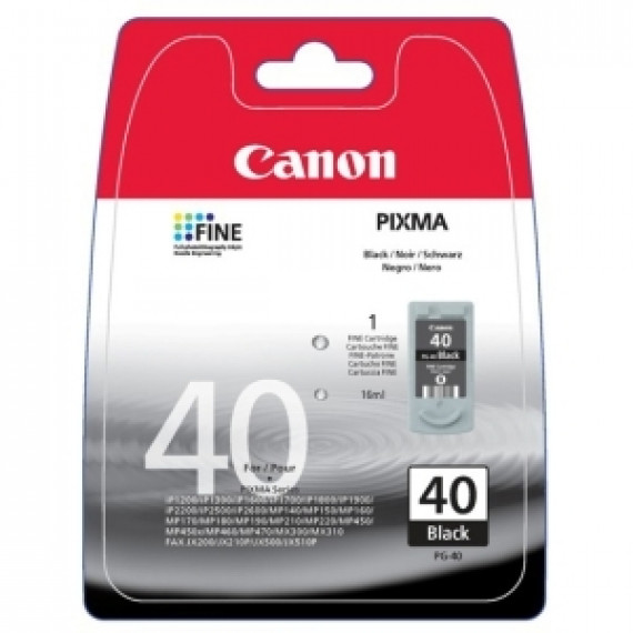 Cartouche d'Encre Canon PG-40 - Noir - Jet d'Encre