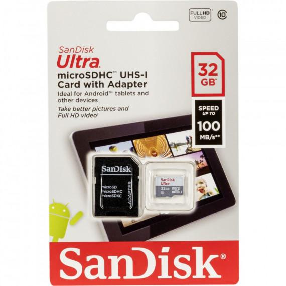 sandisk 32GB Ultra microSDHC+SD Adapter