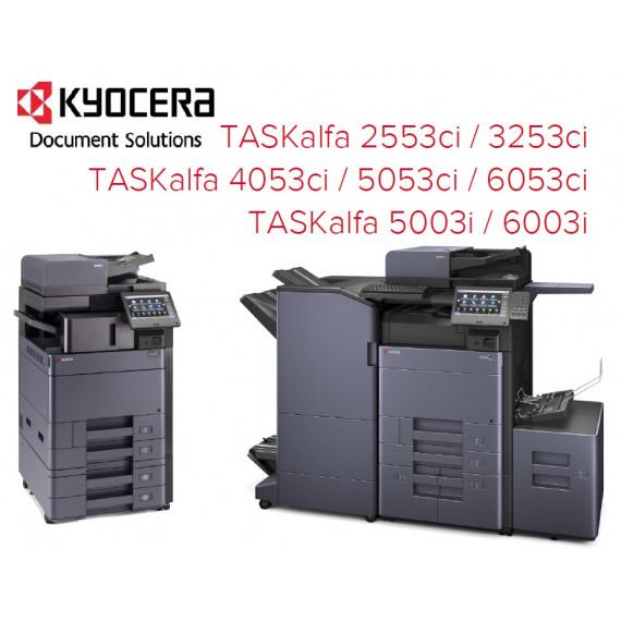 """Kyocera Multifonction couleur A3, 60 ppm, 1200 dpi, Ecran tactile 10,1"""", 2 x 500 f., by-pass 150 f., recto verso"""