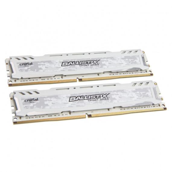 CRUCIAL Série  Ballistix Sport LT DDR4-2400 blanc