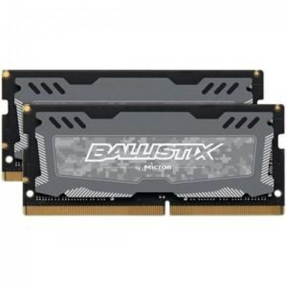 Ballistix Mémoire 8GB Kit (4GBx2) DDR4 2666 MT/s (PC4-21300) CL16 SR x8 Unbuffered SODIMM 260pin (BLS2K4G4S26BFSD)
