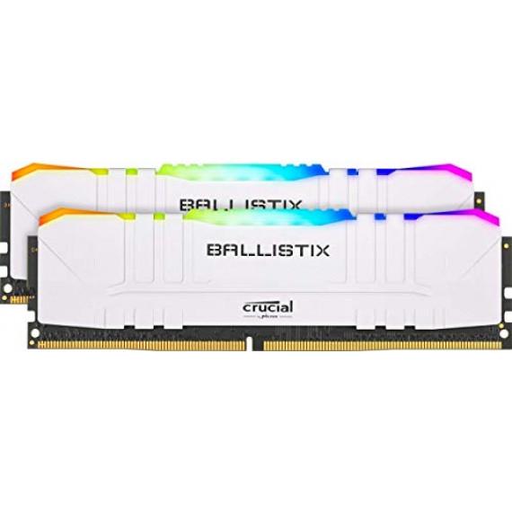 Ballistix White RGB DDR4 16 Go (2 x 8 Go) 3200 MHz CL16
