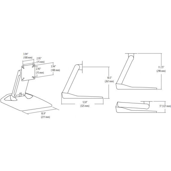 Ergotron Ergotron Neo Flex TouchScreen Stand - Pied pour écran tactile