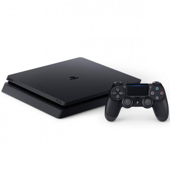 Sony Computer Entertainment Sony PlayStation 4 Slim (500 Go) - Jet Black - Console de jeux-vidéo nouvelle génération avec disque dur 500 Go et manette sans fil