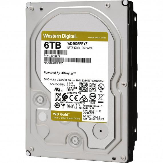 "WESTERN DIGITAL HDD Gold 6TB SATA 256MB 3.5"""