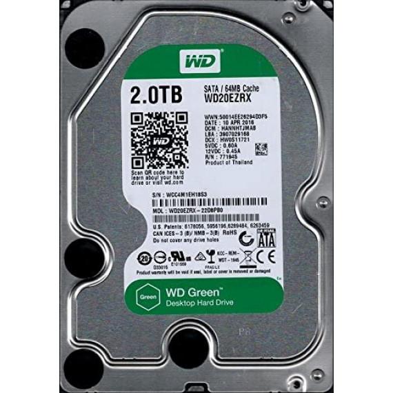 WESTERN DIGITAL WD Blue 2To SATA 6Gb/s HDD Desktop WD Blue 2To SATA 6Gb/s HDD internal 3.5p serial ATA 256Mo cache 7200RPM RoHS compliant Bulk