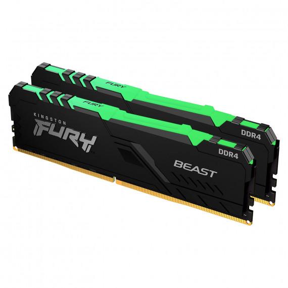KINGSTON FURY Beast RGB 16 Go (2 x 8 Go) DDR4 3200 MHz CL16