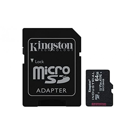 KINGSTON 64GB microSDXC Industrial C10 A1