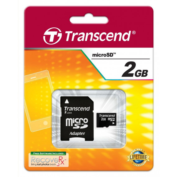 Carte Mémoire Transcend micro Secure Digital Card 2 GB