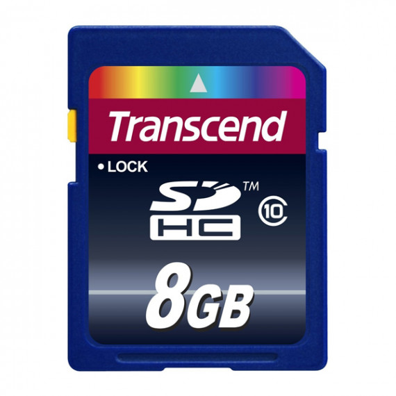 Carte Mémoire Transcend Secure Digital SDHC Card 8 GB Class 10