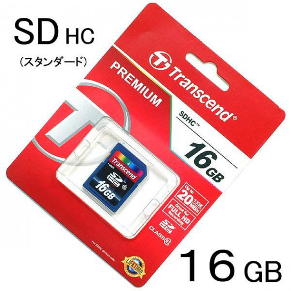 Carte Mémoire Transcend Secure Digital SDHC Card 16 GB Class 10