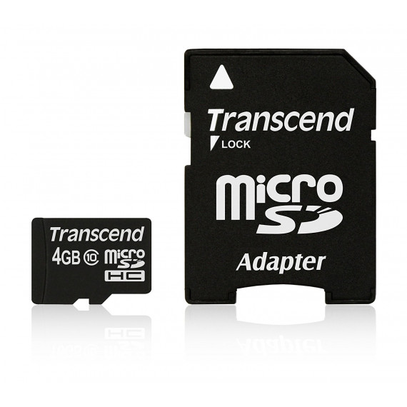Carte Mémoire Transcend microSDHC Card 4 GB noir, Class 10
